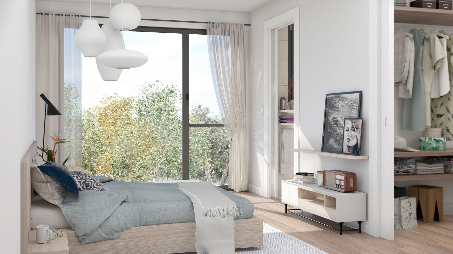 Viviendas en El Cañaveral. Residencial Suertes de la Villa. Dormitorio principal en suite con baño y vestidor