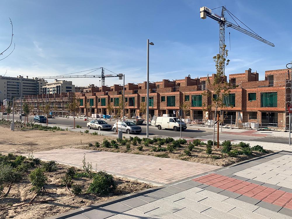 Avance obras residencial suertes de la villa septiembre 20